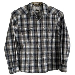 BKE Slim Fit Western Shirt Clear Snap Button
